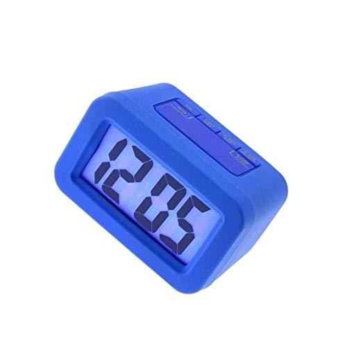 Elektronische wekker Elektronische wekker verstelbare groot scherm duidelijk zichtbaar bed kantoor makkelijk mee te nemen (Color : Blue)