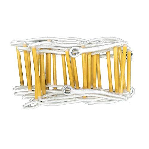 QHGao ladder voor noodgevallen, brandwerende ladder voor brandweer, eenvoudig te plaatsen en te gebruiken, compact en eenvoudig op te bergen, draagbaar herbruikbaar.