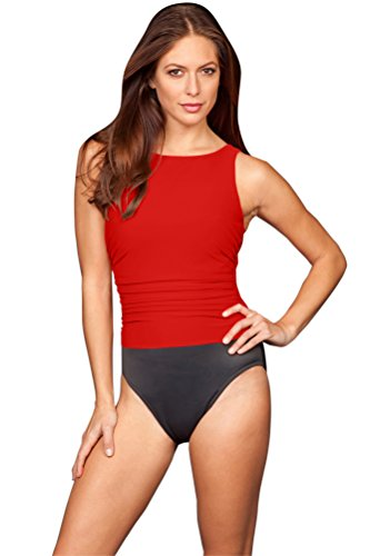 Miraclesuit Lipstick Red Colorblock DD-Cup Regatta Underwire One Piece Swimsuit Size 8DD