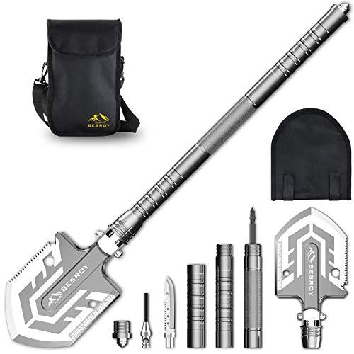BESROY Portable Military Folding Shovel