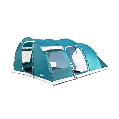 Bestway 68095 Tienda de Campaña Family Dome, 6 Personas Montaje Varillas, Camping, 490x380x195 cm