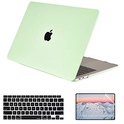 SsHhUu MacBook Air 13 inch Case 2020 2019 2018 Release A2337 M1 A2179 A1932, Plastic Hard Protective Cover with Keyboard Cover & Screen Protector for MacBook Air 13' with Retina Display,Honeydew Green