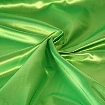 SOLID SATIN FABRIC - LIME GREEN - 60  WIDTH - SOLD BTY
