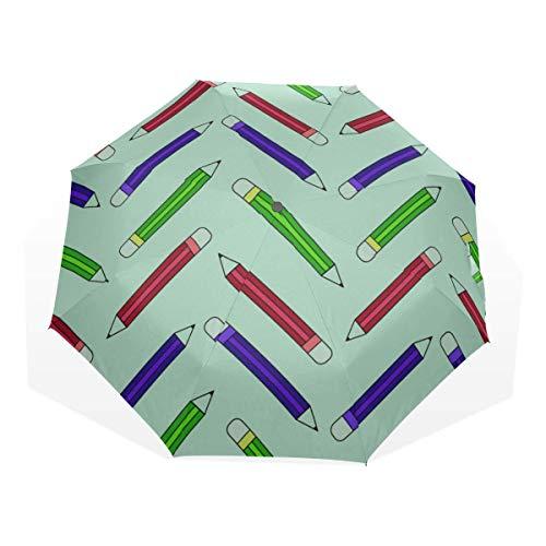 Kinder Regenschirme für Regen Jungen Kunst Kreative Mode Kindlicher Wachsmalstift 3-Fach Kunst Regenschirme (Sonnenschirm Winddicht Kinder Regenschirm Regenschirm Sonne