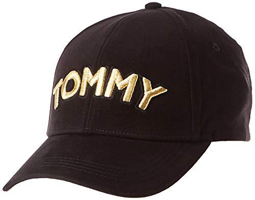 Tommy Hilfiger Damen Tommy Patch Cap, Schwarz (Black 002), One Size (Herstellergröße: OS)
