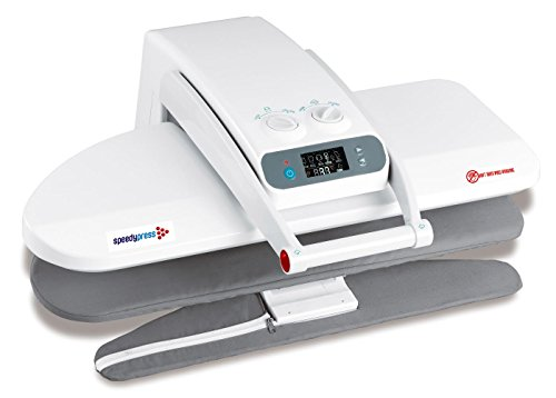 Digital Steam Press with Integrated Sleeveboard 25.6 Inches, 1400 Watt, 100 lbs of Pressure 38 Powerful Jets of Steam, Includes Replacement Pad