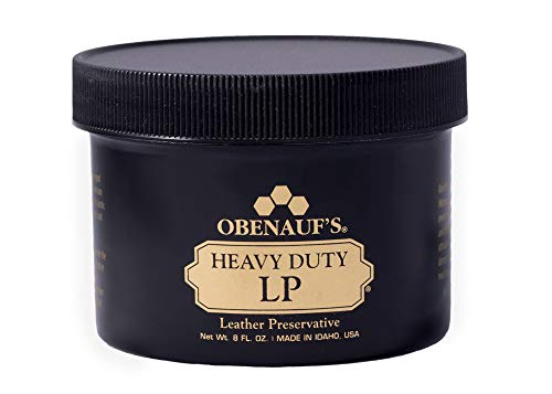 Obenauf's Heavy Duty LP Leather Conditioner Natural Oil Beeswax Formula (8oz)