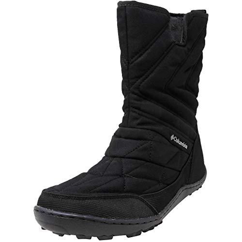 Columbia Women's Minx Slip III Snow Boot, Black, steam, 8 Regular US