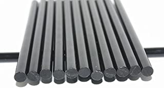 LYW 50pcs Black Hot Melt Glue Sticks, 11mm x 190mm