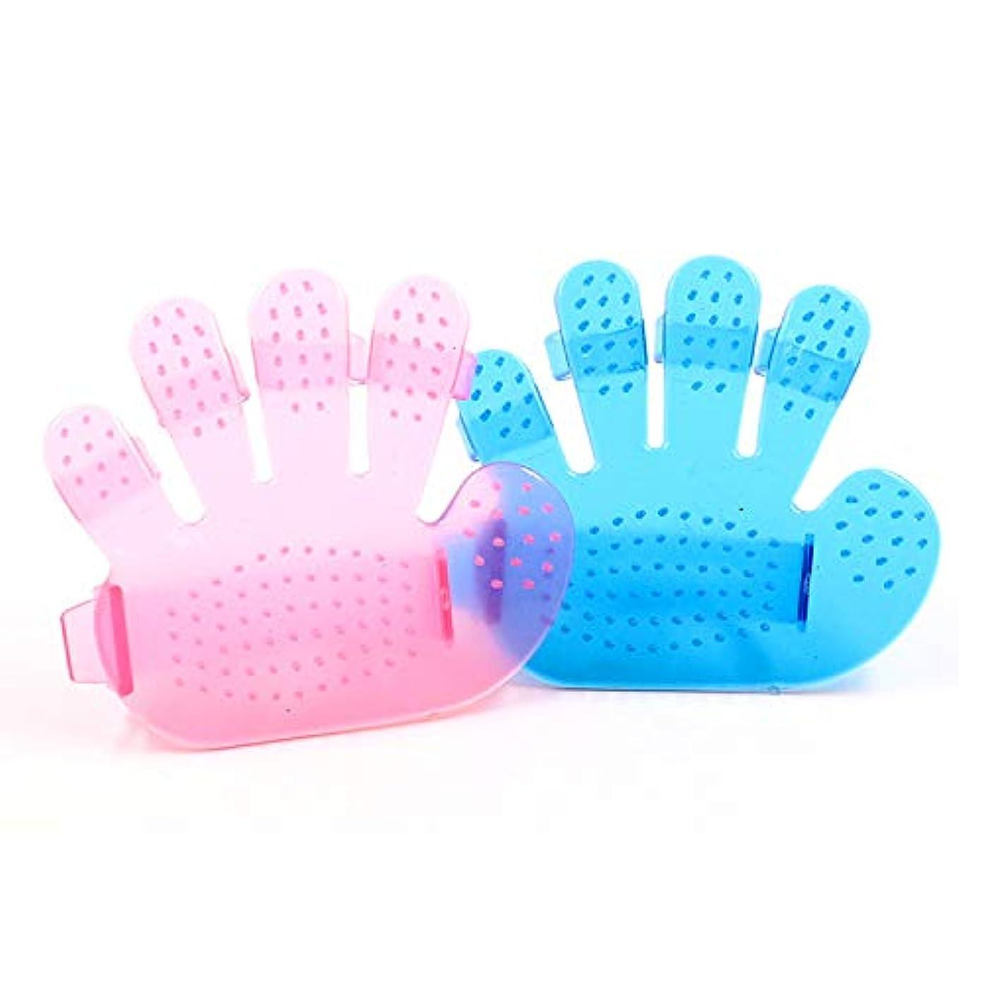 浮浪者光の笑BTXXYJP ペット ブラシ 手袋 猫 ブラシ グローブ クリーナー 耐摩耗 抜け毛取り マッサージブラシ 犬 グローブ 10個 (Color : Pink, Size : M-Ten)
