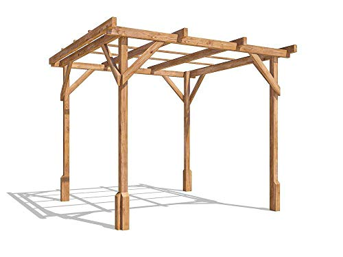 Dunster House Wooden Pergola Garden Canopy Shade Utopia W2m x D2m