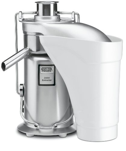 Waring Commercial JE2000 Medium-Duty Pulp Eject Juice Extractor, 16,000 RPM motor, 120V, 5-15 Phase...