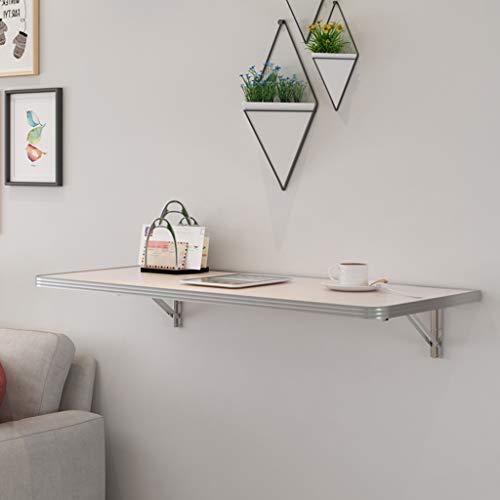 Mesa plegable de hoja abatible montada en la pared, banco de trabajo plegable de madera maciza para computadora, escritorio flotante que ahorra espacio pequeño, para comedor, estudio, barra de lava