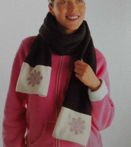 Echt thermo-fleece sjaal dubbellaags, 180 cm lang, 30 cm breed