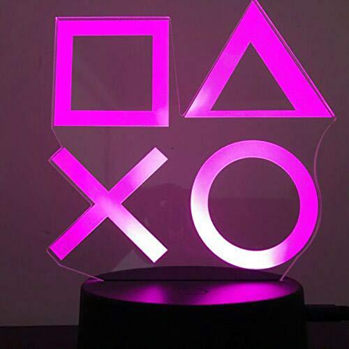 Xbox Gamer Games Logo 3D acryl LED 16 kleuren nachtlampje sfeerverlichting tafellamp zwart basis cadeau afstandsbediening