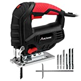 Jigsaw, Avid Power 5.0A 3000 SPM Jig Saw with Variable Speed, Bevel Angle (0°-45°), 6PCS Blades and Scale Ruler