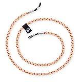 hangloo - Das hochwertige Brillenband | Name: Palm Springs | Farben: Weiß, gelb und rosa