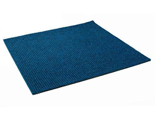 Nadelfilz Teppichfliese Selbstklebend MERCEDES - Blau 50cm x 50cm Filzfliese Nadelfilz Teppichboden