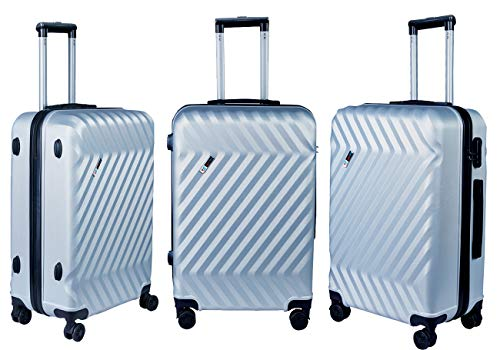 3G Atlantis Smart Series USB Charging 4 Wheel Hard Sided Luggage Set of 2 Trolley Travel Bags (20inch / 55cm + 24inch / 65cm) Suitcase