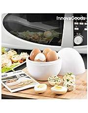 Innovagoods bbb_V0101051 Eierkoker voor magnetron met recept Boilegg, wit