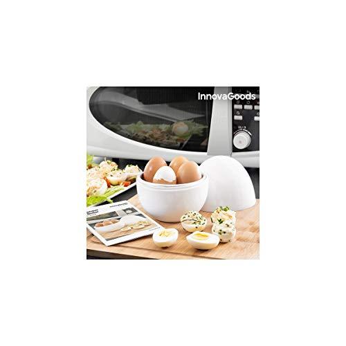 Innovagoods bbb_V0101051 Eierkocher für Mikrowelle mit Rezept Boilegg, Weiß