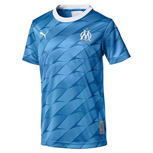 PUMA Olympique Marsella Temporada 2020/21-AWAY Shirt Replica JR SS with Sponsor Camiseta...