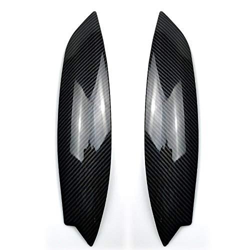 COOLLIU Scheinwerferblenden Carbon-Faser-Muster-Scheinwerfer Eyelids Trim, Scheinwerfer Augenbrauen Abdeckung Dekoration Styling-Aufkleber, for Volkswagen Golf 5 (4 Stück) (Color : Color1)