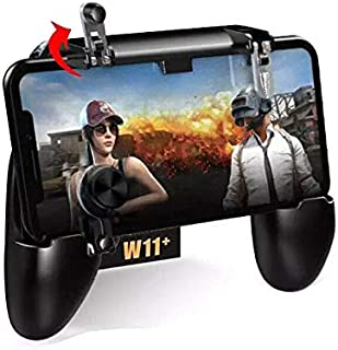 JSX W11+ PUGB Mobile Game Controller Free Fire PUBG Mobile Joystick Gamepad Metal L1R1 Shooter Joystick Compatible with Smartphone