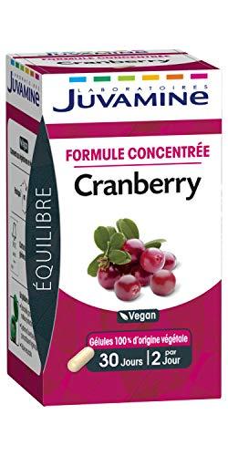 JUVAMINE - Equilibre - Formule Concentrée Cranberry - Vegan - 60 Gélules