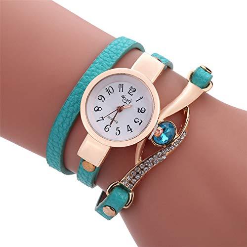FDIJM Mode Frauen Retro Pfau Armband Saphir Simulation Sport Handgelenk Uhr, Mg