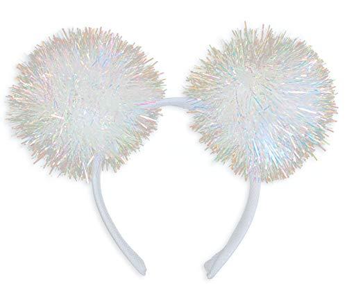 Princess Paradise Women's Iridescent Pom Headband, As Shown, One Size