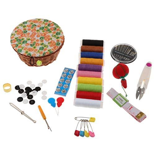 Bonarty Práctico Kit de Costura Accesorios de Costura con Cesta de Costura, Costura Universal