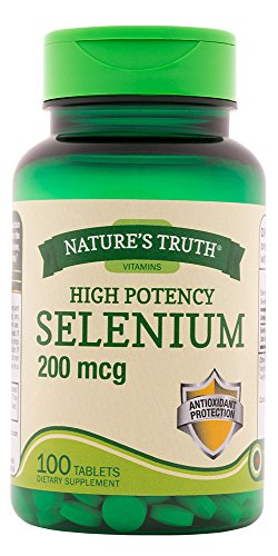 Nature's Truth Selenium 200 mcg Supplements, 100 Count