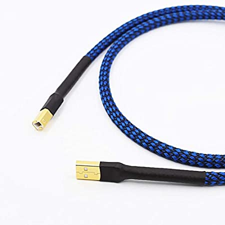 5N OCC copper hi-end USB Cable Type A to Type B Hifi Data Cable For DAC with Length: 0.5m Lysee USB Cables