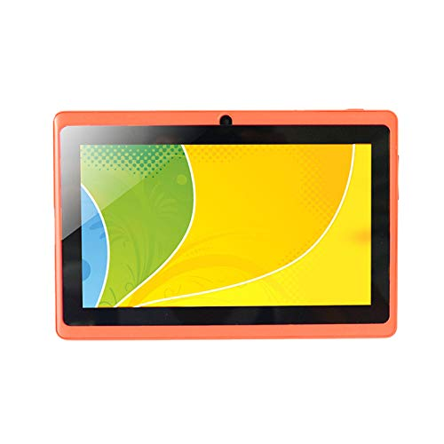 Cavis 7 Inch Kids Tablet Android Quad Core Dual Camera WiFi Education Game Gift for Boys Girls,Orange
