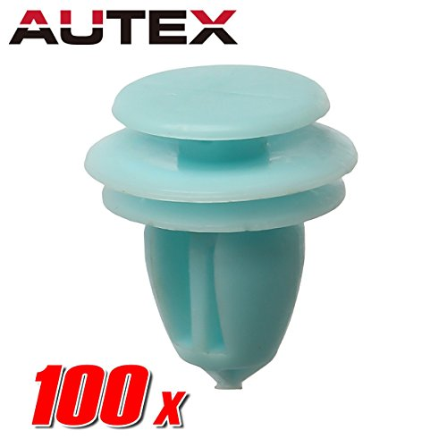 AUTEX 100pcs Door Trim Panel Lining Fastener Rivet Push Clips Retainer Nut Replacement for Honda Accord Crosstour Civic CR-V Element Odyssey Pilot Ridgeline Replacement for Acura ILX Hybrid RDX RL