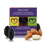 Ta Milano Dragèes con Mandorla Ricoperta di Cioccolato Fondente 66%, Praline con Frutta Secca, 120 Grammi