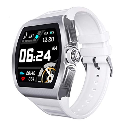 M1 Smart Watch, Fitness Tracker,2021style, Ip68 Waterproof, with Oxygen Saturation, Bluetooth Call, Children's Male and Female Pedometer,Removable Strap(White)