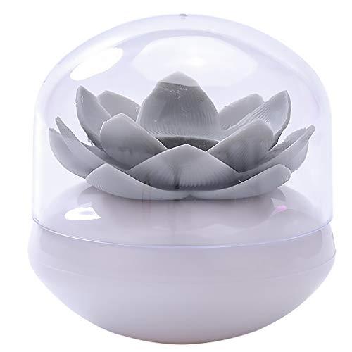 on brand DANDANdianzi Flower Design Cotton fioc Holder Bagagli Cotone stoccaggio Contenitore stuzzicadenti Organizzatore Tubo con Copertura Antipolvere, Grigio