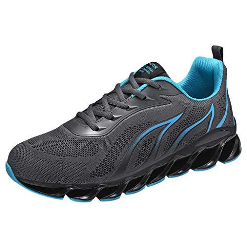OPAKY Zapatillas Deporte Hombre Zapatos para Correr Zapatillas de Deporte Respirable Zapatos Running Hombre Zapatos Deportivos para Correr Cómodos y Transpirables de Malla Ligera