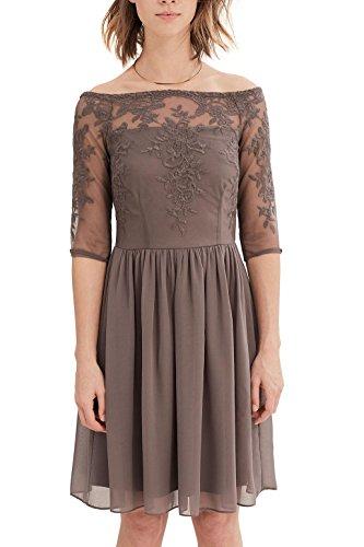 ESPRIT Collection Damen Kleid 037EO1E009, Blau (Navy 400), 38 (Herstellergröße: M)