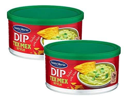 Santa Maria Dip Tex Mex Salsa al Gusto di Guacamole Preparazione Messicana a Base di Avocado e Peperoncino - 2 x 250 Grammi