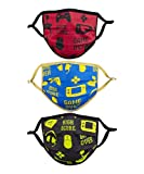 Kids Face Protectors in Fun Themed Prints, 10-Pack, Gamer Theme, Assorted Colors