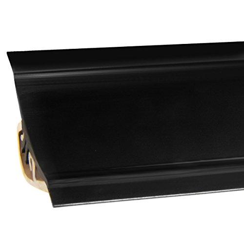 HOLZBRINK Küchenabschlussleiste Schwarz Küchenleiste PVC Wandabschlussleiste Arbeitsplatten 23x23 mm 150 cm