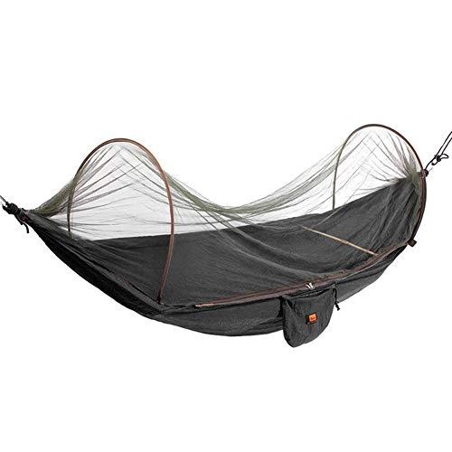 GZSC Hamac Parachute en Plein Air en Tissu Tissu Hamac Camping Camping Hamac avec Filets Moustiques Seul Personne Hamac Swing (Color : Black)
