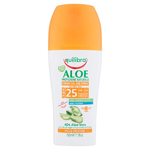Equilibra Aloe Crema Solare Spray Spf 25, 150 ml