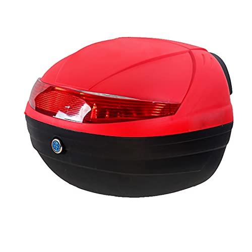 WANGPP Caja Trasera Universal para Motocicletas, Caja Trasera para Almacenamiento De Equipaje Resistente Y Duradera para Scooter, con Respaldo Suave Y Luz De Advertencia Nocturna