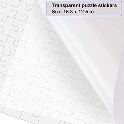 Puzzle Glue Sheets, Clear Puzzle Saver | Puzzle Saver Peel & Stick Adhesive Paper Jigsaw Puzzle Glue Best Way to Preserve Your Finished Puzzle (Transparent -12PCS)