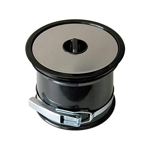 Poubelle de plan de travail - couvercle inox - Décor : Inox/Noir - ITAR