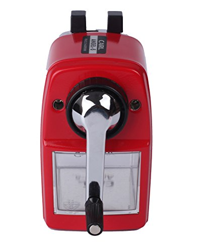 CARL Angel-5 Manual Pencil Sharpener Heavy Duty Quiet for School Home and Office,Red Photo #3